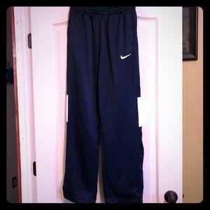 Nike men's small Dri fit warm up pants navy